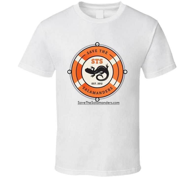 Save The Salamanders white t-shirt